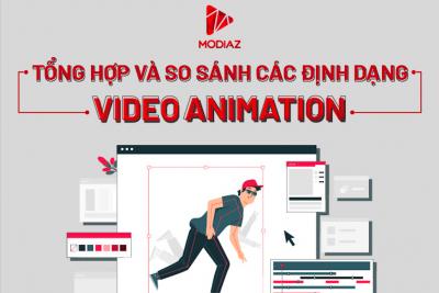 [INFOGRAPHIC] Tổng hợp và so sánh các định dạng video animation