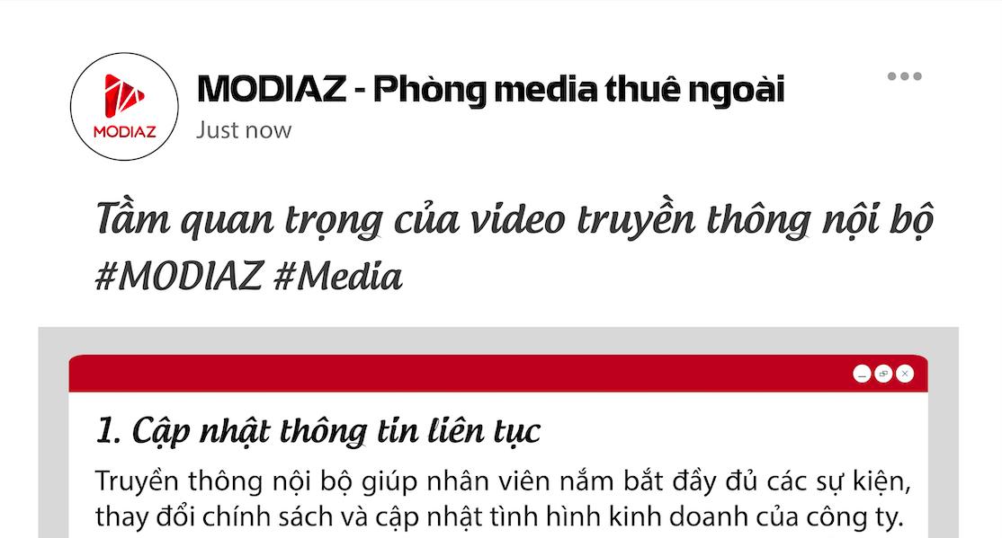 [INFOGRAPHIC] Tầm quan trọng của video truyền thông nội bộ